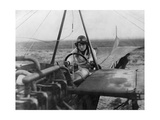 Female Aviator Nelly Beese in a Singledecker, 1911 Photographic Print by  Scherl
