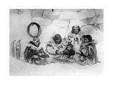 Yupik in einem Iglu in Sibirien, 1930er Jahre Impressão fotográfica por Scherl Süddeutsche Zeitung Photo