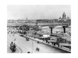 Nikolai-Bridge in Saint Petersburg, 1916 Fotografisk tryk af Scherl