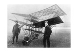 Aviation Pioneers Next to a Homemade Flying Machine, 1908 Photographic Print by  Scherl