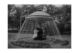 Mushroom-Fountain at Palace Petergof, 1913 Photographic Print by  SZ Photo