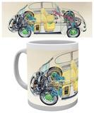 VW - Camper Cross Section Mug Mug