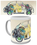 VW - Camper Cross Section Mug - Mug