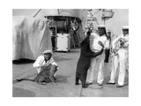 German Sailors with Exotic Animals, 1934 Photographic Print by  SZ Photo
