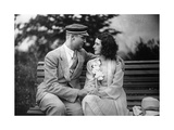 Couple on a Bench, 1930-1931 Photographic Print by  SZ Photo