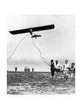 Pilot's License Applicants Start a Hang Glider, 1930 Photographic Print by  Scherl