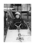 Female Student Pilot in a Training Aircraft Near Chalons, 1910 Photographic Print by  Scherl