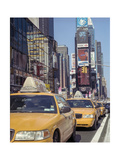 Yellow Cabs, Times Square, New York City Photographic Print by Henri Silberman