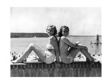 Two Young Women Posing at the Wannsee, 1939 Photographic Print by  SZ Photo