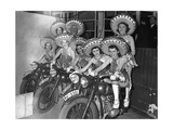 Dancers of the Tobis-Ballet on Motorcycles, 1939 Photographic Print by  SZ Photo