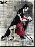 Midnight Tango Stretched Canvas Print by Loui Jover