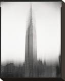 Empire State Building Motion Landscape 1 Stretched Canvas Print by Len Prince
