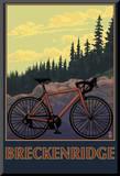 Breckenridge, Colorado - Mountain Bike Mounted Print by  Lantern Press