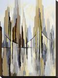 City Bridge (left) Stretched Canvas Print by Gregory Lang