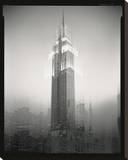 Empire State Building Motion Landscape 2 Stretched Canvas Print by Len Prince