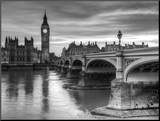 The House of Parliament and Westminster Bridge Mounted Print by Grant Rooney