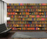 Colour Bookshelf Wallpaper Mural Wallpaper Mural