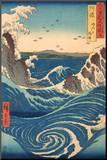 Whirlpool at Naruto, Awa Province Mounted Print by Ando Hiroshige
