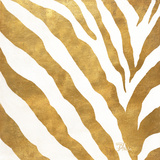 Gold Contemporary Zebra (gold foil) Affiches par Patricia Pinto
