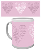 Valentines - I Love You Heart Mug Mugg