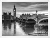 The House of Parliament and Westminster Bridge Print by Grant Rooney
