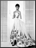 "Audrey Hepburn. ""Sabrina Fair"" 1954, ""Sabrina"" Directed by Billy Wilder. Custome by Edith Head Mounted Photo"
