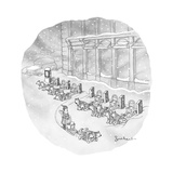 A woman rents a dog sled out of a row of kiosks that resemble CitiBike.   - New Yorker Cartoon Premium Giclee Print by David Borchart