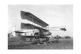 Dreidecker-Flugzeug von Louis Paulhan, 1911 Photographic Print by Scherl Süddeutsche Zeitung Photo