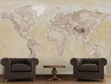 2015 Neutral Map Wallpaper Mural Carta da parati decorativa