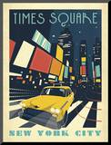 Times Square: New York City Mounted Print by  Anderson Design Group