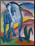 Blaues Pferd I., 1911 Mounted Print by Franz Marc