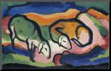 Sheep, 1912 Mounted Print by Franz Marc