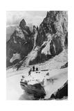 Bergsteiger in den italienischen Alpen, 1930er Jahre Photographie par  Scherl