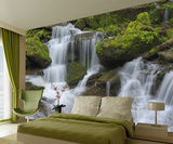 Waterfall Wallpaper Mural Veggoverføringsbilde