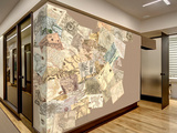 Creative Collage Vintage Maps - 64 piece Wallpaper Collage Mural de papel pintado