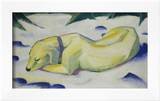 Dog Lying in the Snow, 1910/1911 Prints by Franz Marc