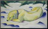 Dog Lying in the Snow, 1910/1911 Mounted Print by Franz Marc