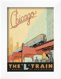 Chicago: The 'L' Train Prints by  Anderson Design Group