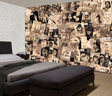 Creative Collage Sepia LIFE Front Covers - 64 piece Wallpaper Collage Fototapeta