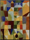 Urban Composition with Yellow Windows Mounted Print by Paul Klee