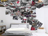 Creative Collage City Scene - 64 piece Wallpaper Collage Wallpaper Mural