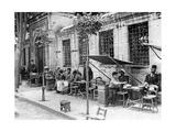 Straßencafe in Istanbul, 1927 Photographie par  Scherl