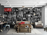 Creative Collage LIFE Icons - 64 piece Wallpaper Collage Behangposter