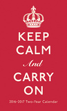 Keep Calm and Carry On - 2016 2 Year Pocket Calendar Calendars
