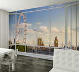 London Window View Wallpaper Mural Wallpaper Mural