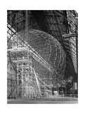 """Zeppelin LZ 129 """"Hindenburg"""" im Bau Photographic Print by Scherl Süddeutsche Zeitung Photo"""