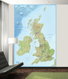 2015 British Isles Wallpaper Mural Vægplakat