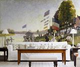 Claude Monet Water Scene - Impressionist Wallpaper Mural Wallpaper Mural