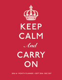 Keep Calm and Carry On - 2016 Engagement Calendar Calendars