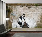 Maid Graffiti Wallpaper Mural Wallpaper Mural